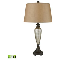 Dimond Lighting 113-1142-LED Antique Mercury 31 inch 9.5 watt Antique Mercury Glass and Bronze Table Lamp Portable Light