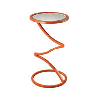 Dimond Home Zig-Zag Accent Table in Orange and Mirror Metal and Mirror 114-106