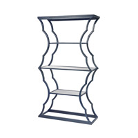 Dimond Home Metal Cloud Shelf in Navy Blue and Mirror Metal and Glass 114-110