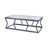 Lazy Susan by Dimond Lighting Metal Cloud Coffee Table in Navy Blue and Mirror Metal and Glass 114-113
