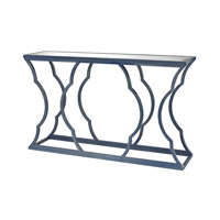 Metal Cloud 60 X 15 inch Navy Blue and Mirror Console Home Decor