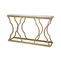 Dimond Home Metal Cloud Console in Antique Gold Leaf and Mirror Metal and Glass 114-116