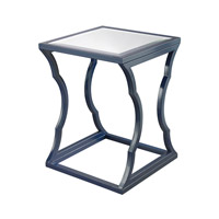 Dimond Home Metal Cloud Accent Table in Navy Blue and Mirror Metal and Mirror 114-117