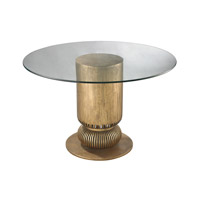 Dimond Home Sock Bun Accent Table in Antique Gold Leaf Metal and Glass 114-119