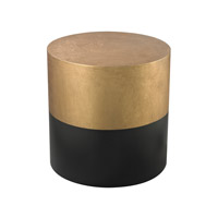 Dimond Home Cube Accent Table in Antique Gold and Black Wood 114-121