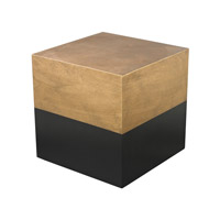 Dimond Home Cube Accent Table in Antique Gold and Black Wood 114-122
