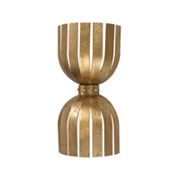 Dimond Lighting Olympia 2 Light Wall Sconce in Antique Gold Leaf Metal 114-141