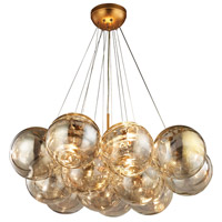 Dimond Cielo 3 Light Chandelier in Antique Gold Leaf 1140-010