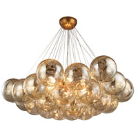 Cielo 6 Light 41 inch Antique Gold Leaf Chandelier Ceiling Light