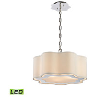 Villoy LED 18 inch Polished Stainless Steel And Nickel Pendant Ceiling Light, Drum