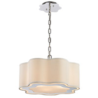 Villoy 3 Light 18 inch Polished Stainless Steel & Polished Nickel Pendant Ceiling Light in Incandescent