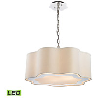 Villoy LED 24 inch Polished Stainless Steel And Nickel Pendant Ceiling Light, Drum