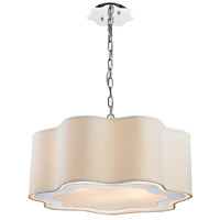Dimond Villoy 6 Light Pendant in Polished Stainless Steel & Polished Nickel 1140-019