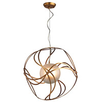 Oriona 3 Light 20 inch Antique Gold Leaf Pendant Ceiling Light
