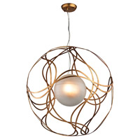 Oriona 3 Light 27 inch Antique Gold Leaf Pendant Ceiling Light