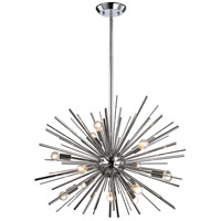 Starburst 12 Light 27 inch Polished Chrome Pendant Ceiling Light