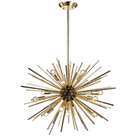 Starburst 12 Light 27 inch Polished Gold & Oil Rubbed Bronze Pendant Ceiling Light
