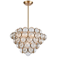 Sphaira 6 Light 26 inch Satin Brass Chandelier Ceiling Light