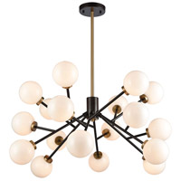 Dimond Lighting 1140-067 Levity 18 Light 34 inch Satin Brass and Oiled Bronze Chandelier Ceiling Light