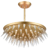 Sting 5 Light 17 inch Gold Leaf Semi Flush Mount Ceiling Light