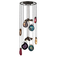 Dimond Gallery 8 Light Chandelier in Oil Rubbed Bronze & Brushed Slate 1141-007