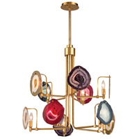 Dimond Lighting 1141-008 Gallery 10 Light 30 inch Antique Gold Leaf Chandelier Ceiling Light