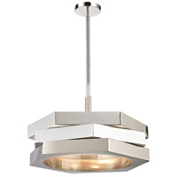 Facet 3 Light 24 inch Polished Nickel Pendant Ceiling Light