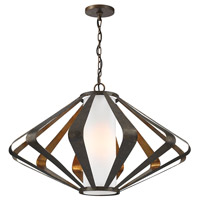 Dimond Reflex 1 Light Pendant in Textured Gold Leaf & Mocha 1141-012