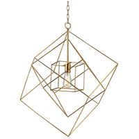 Dimond Lighting 1141-014 Neil 1 Light 28 inch Gold Leaf Pendant Ceiling Light in Large