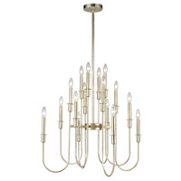 Dimond Lighting 1141-028 Waxley 16 Light 28 inch Antique Silver Leaf Chandelier Ceiling Light photo thumbnail