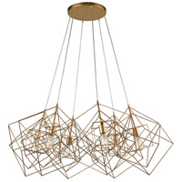 Dimond Lighting 1141-032 Box 6 Light 48 inch Gold Leaf Cluster Pendant Ceiling Light