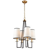 Dimond Lighting 1141-060 On Strand 4 Light 22 inch Oiled Bronze/Gold Leaf Chandelier Ceiling Light