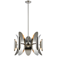 Dimond Lighting 1141-061 Into Stellar Space 10 Light 23 inch Polished Nickel and Stainless Steel Chandelier Ceiling Light