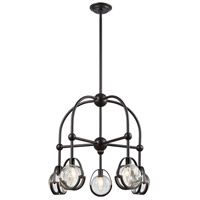 Dimond Lighting 1141-062 Focal Point 5 Light 25 inch Oil Rubbed Bronze Chandelier Ceiling Light