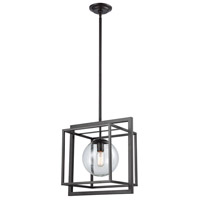 Beam Cage 1 Light 16 inch Oil Rubbed Bronze Finish/Clear Glass Pendant Ceiling Light