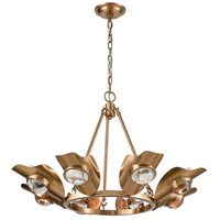 Dimond Lighting Aged Brass Glass Chandeliers
