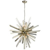 Dimond Lighting 1141-073 Cataclysm 8 Light 30 inch Silver Leaf Chandelier Ceiling Light