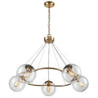 Dimond Lighting 1141-076 Surface To Air 5 Light 38 inch Aged Brass Chandelier Ceiling Light
