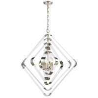 Dimond Lighting 1141-079 Rapid Pulse 5 Light 30 inch Polished Nickel/Clear Acrylic Chandelier Ceiling Light