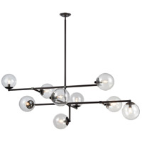 Dimond Lighting 1141-083 Communique 9 Light 64 inch Oiled Bronze Finish/Clear Glass Chandelier Ceiling Light