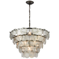 Dimond Lighting 1141-084 Airesse 9 Light 25 inch Brushed Slate/Mercury Glass Chandelier Ceiling Light photo thumbnail
