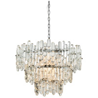 Dimond Lighting 1141-086 Icy Reception 9 Light 27 inch Chrome/Clear Glass Chandelier Ceiling Light