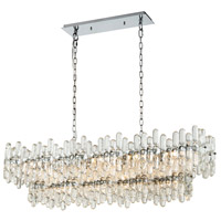 Dimond Lighting 1141-087 Icy Reception 12 Light 43 inch Chrome Island Light Ceiling Light