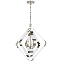 Rapid Pulse 3 Light 20 inch Polished Nickel Chandelier Ceiling Light