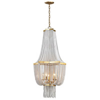 Chaumont 5 Light 21 inch Antique Gold Leaf Chandelier Ceiling Light