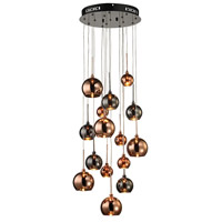Nexion 15 Light 14 inch Black Chrome Chandelier Ceiling Light