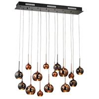 Nexion 15 Light 28 inch Black Chrome Chandelier Ceiling Light
