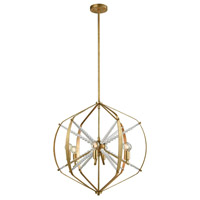 Mercury 6 Light 24 inch Antique Gold Leaf Chandelier Ceiling Light