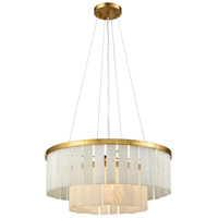 Dimond Lighting 1142-013 Orchestra 1 Light 20 inch Gold Leaf Chandelier Ceiling Light