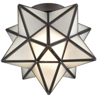 Moravian Star 1 Light 10 inch Oil Rubbed Bronze Flush Mount Ceiling Light